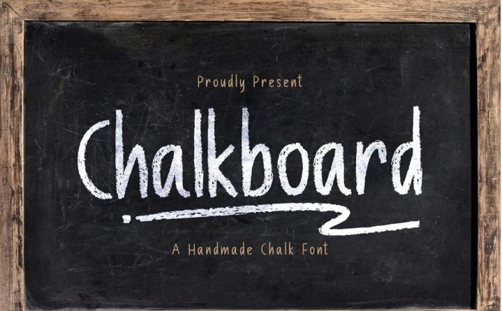 Chalk Board - A Handmade Back to School Font