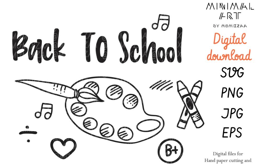 Back to School Doodle Set Vector