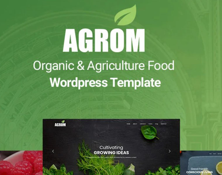 Agrom - agriculture WordPress theme by Zcube