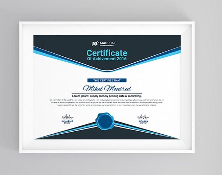 Computer Training Certificate template by Monir