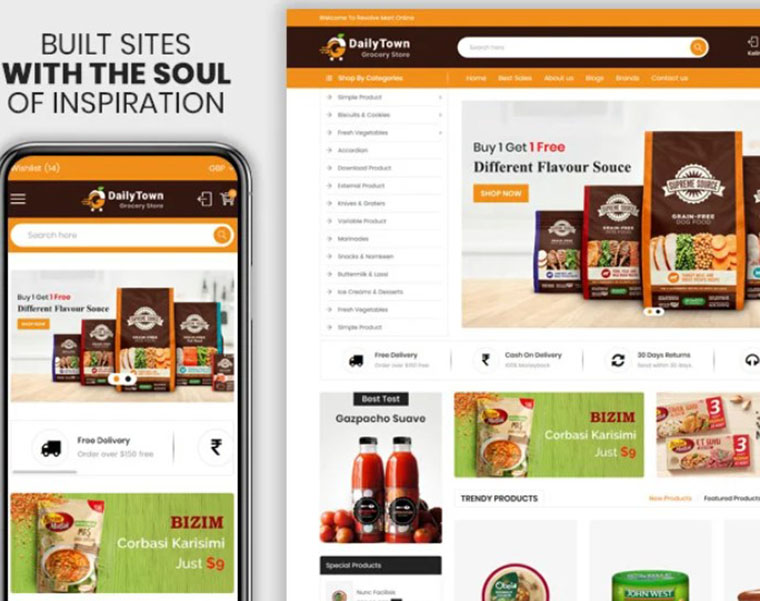 Dailtytown - Grocery Shopify theme by Webheay