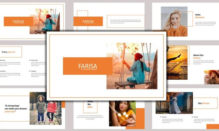 Farisa - PowerPoint template by Abukick
