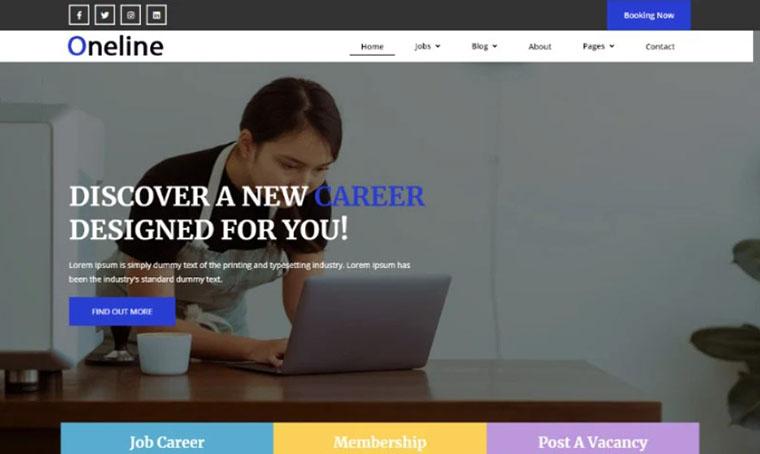 Job Portal Bootstrap Template by Codezion