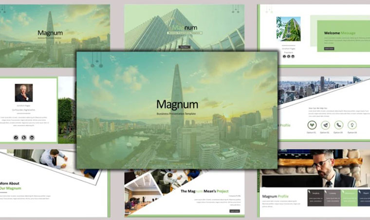 Magnum - Business PowerPoint template by Abukick
