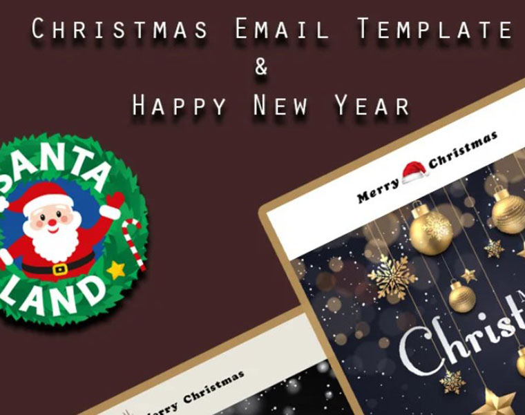 Merry Christmas & Happy New Year HTML newsletter template by Webheay