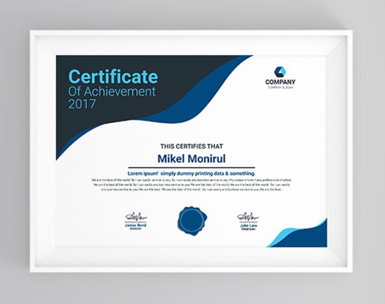 Press Certificate template by Monir