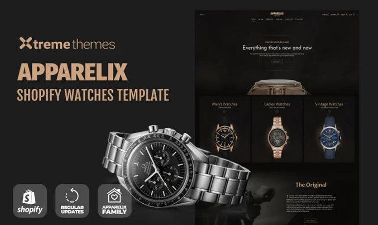 Watches Store Shopify template by Xtremethemes
