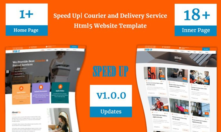 Speed Up Courier Service Website Template by Codezion
