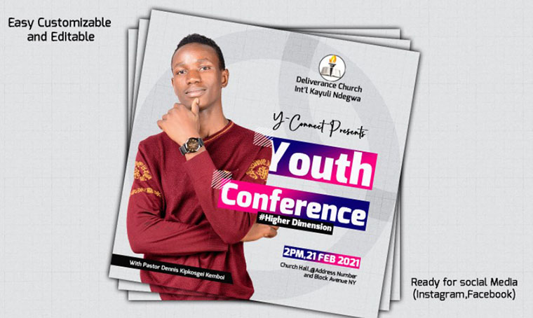 Youth Conference Social Media template by Fluffyeditz1