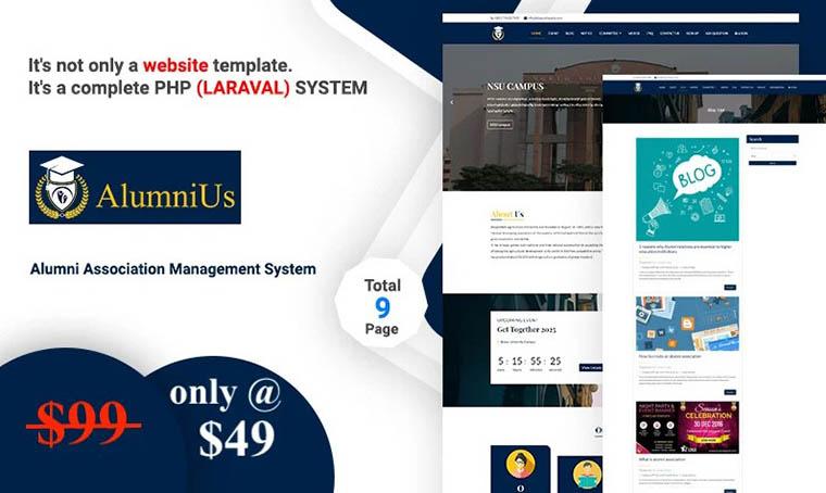 Alumnius HTML5 Website Template