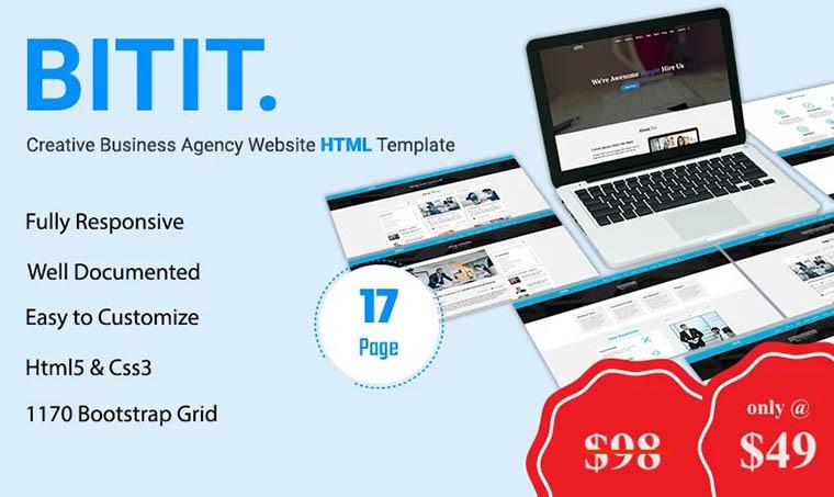 BITIT - Business Agency Website template by Bitspeck