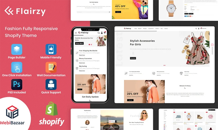 Flairzy - Fashion Shopify theme by WebiBazaar