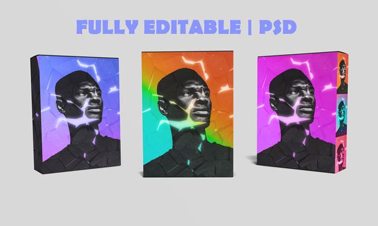 Fracture Effect Digital Art Template