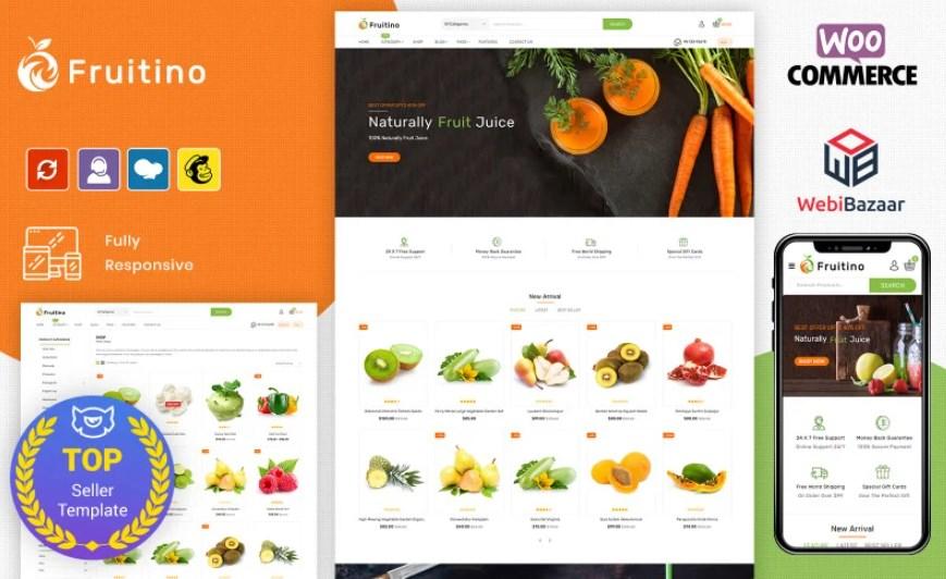 Fruitino - Food & Grocery WooCommerce theme by WebiBazaar