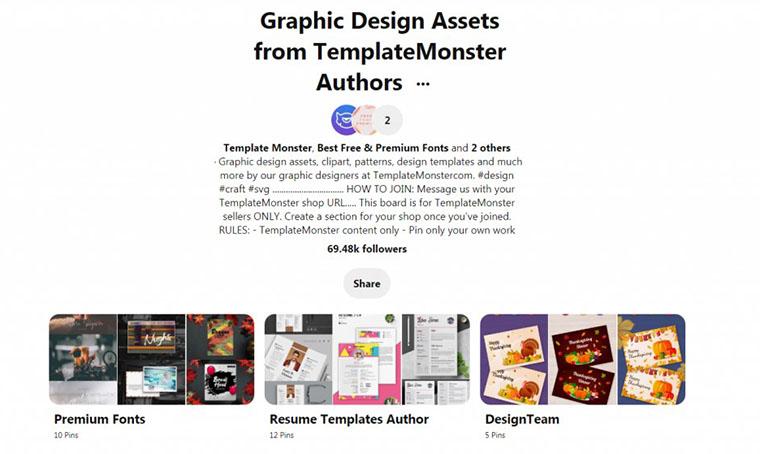 TemplateMonster Pinterest Board