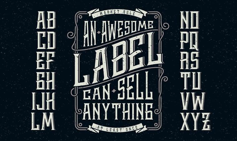 Whickey Label font by Gleb Guralnyk