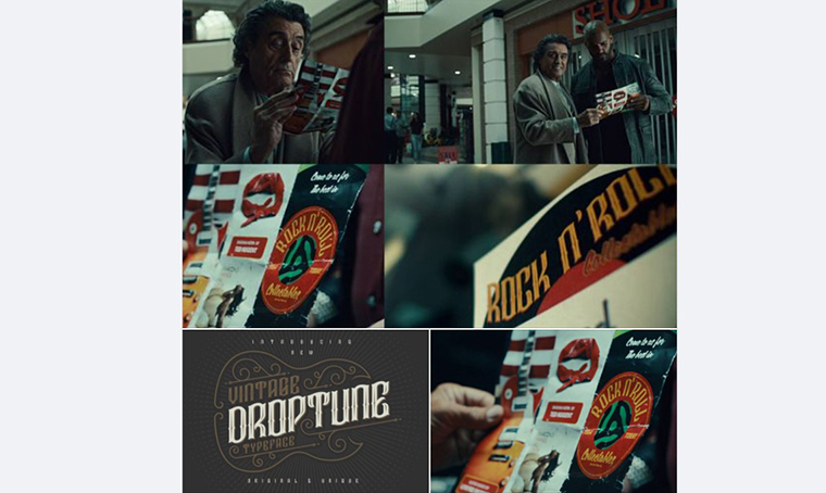 American Gods with Droptune Typeface