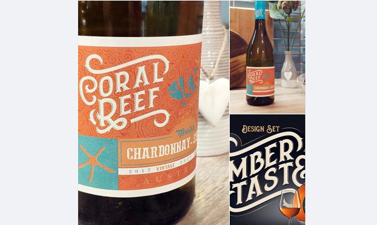 Australian Wine with Amber Taste Font