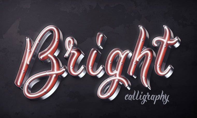 Bright Calligraphy font by Gleb Guralnyk