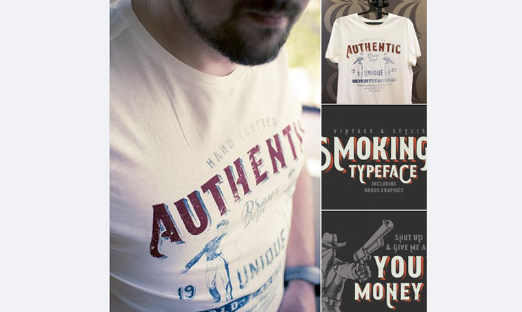 Collins Collection with Smoking typeface by Gleb