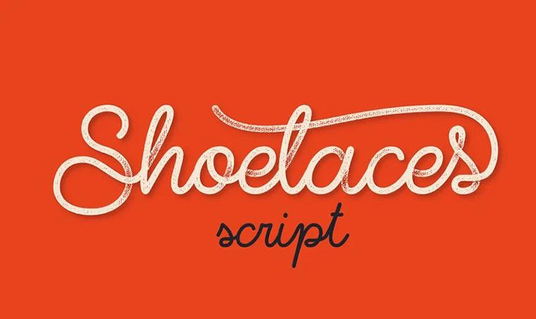 Shoelaces font by Gleb Guralnyk