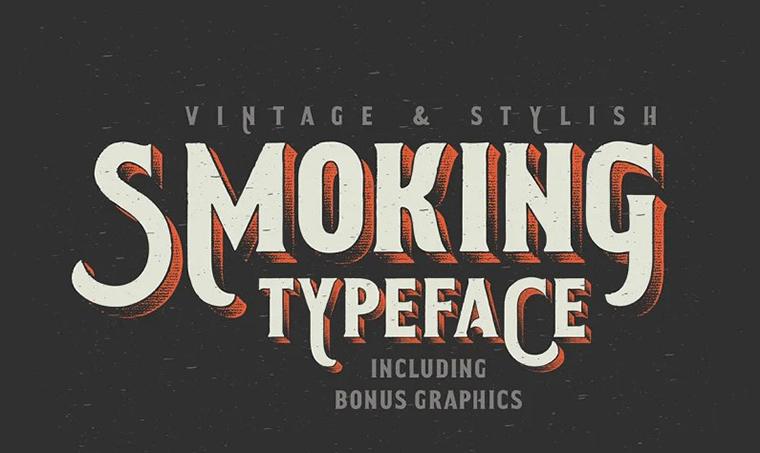 Smoking Typeface Font