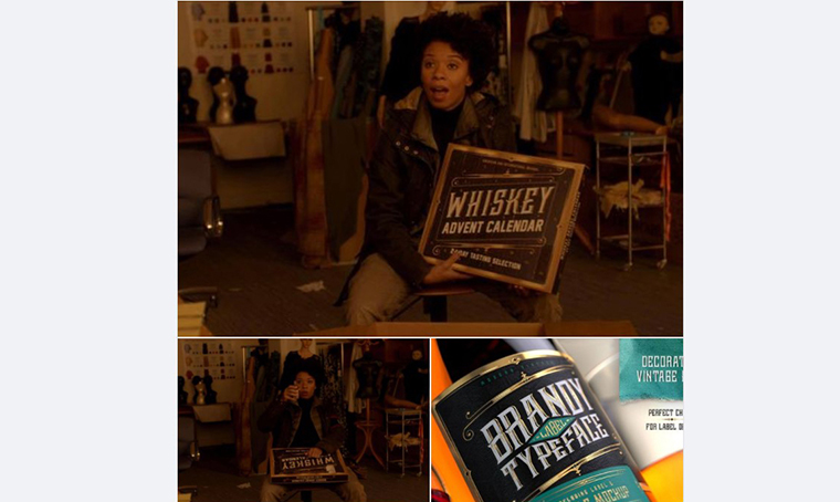 Strain episode with Whiskey Label font